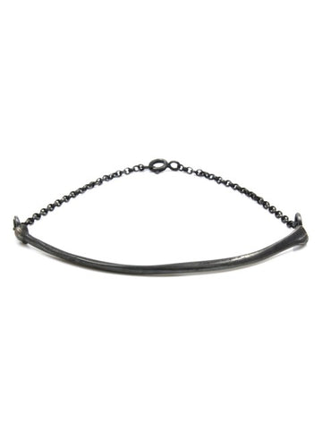 The Radius Bracelet - Oxidised Silver