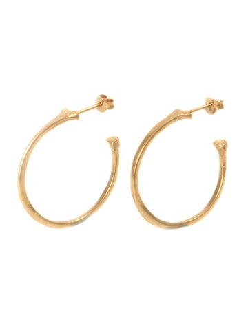The Radius Hoop Earrings - Rose Gold