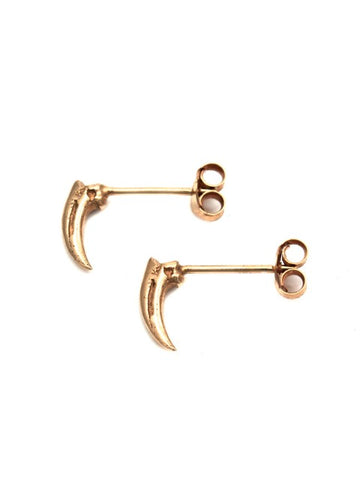Tiny Claw Earrings - Rose Gold