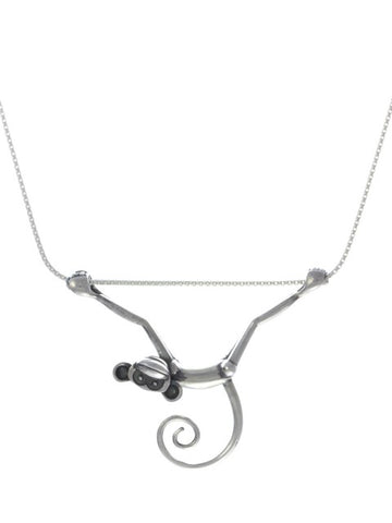 Silver Toy Monkey Necklace