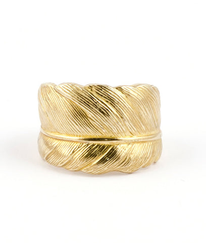 Gold Feather Ring 9ct : Take Flight - IndependentBoutique.com