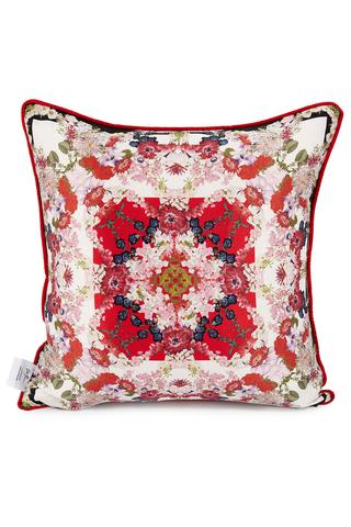 Floral Print Chloris Red Cushion Cover - IndependentBoutique.com
