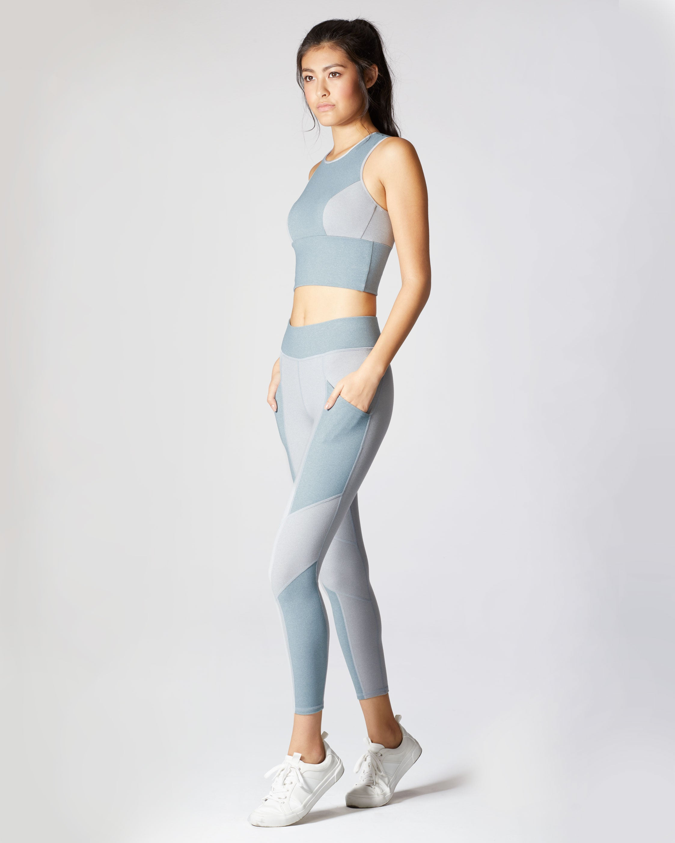 Aura Pocket Legging - Angelite Blue