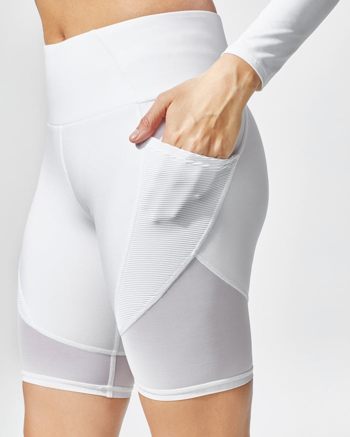 Circuit Bike Short - White