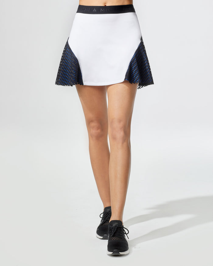 Match Skirt - White/Blue/Black