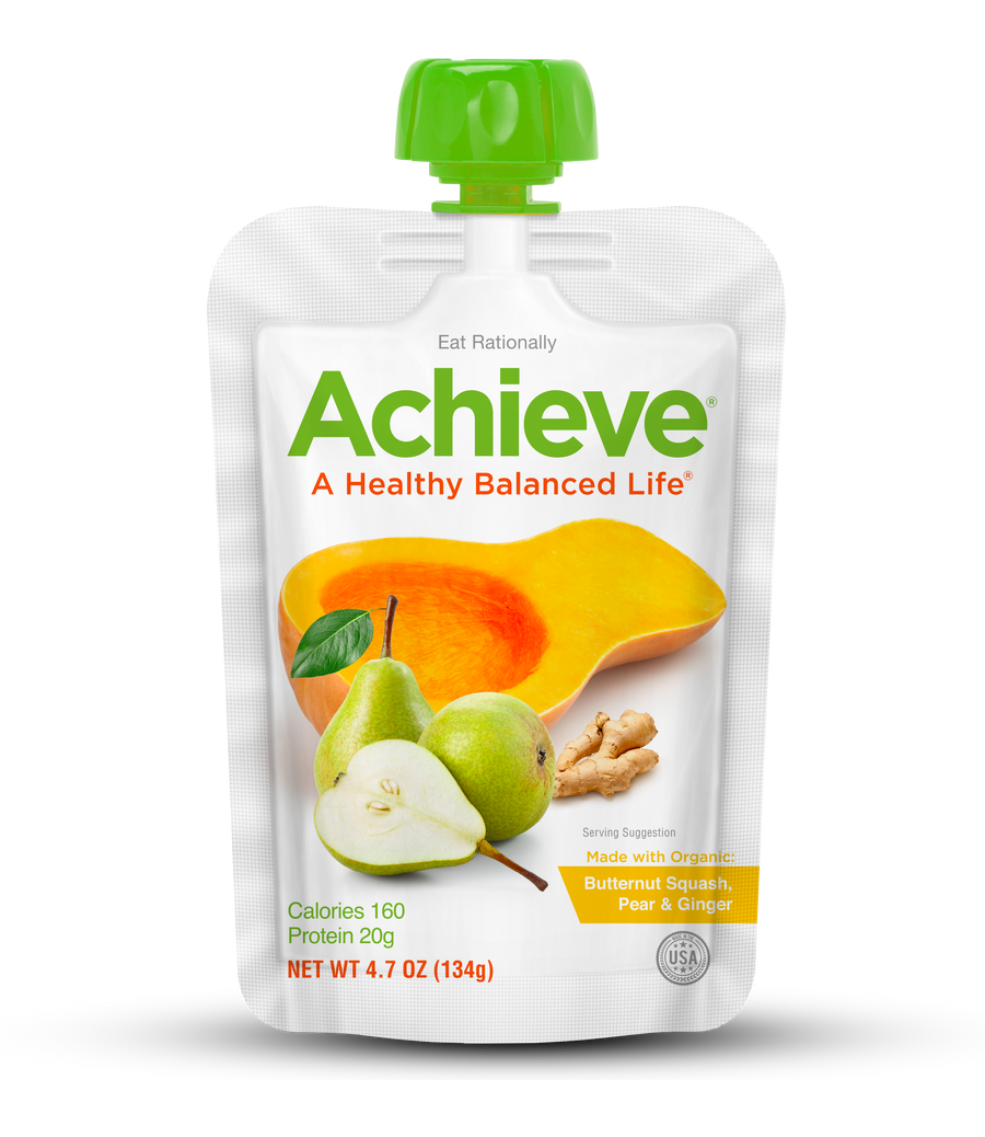 Achieve® - Butternut Squash, Pear & Ginger - Case of 50 Pouches