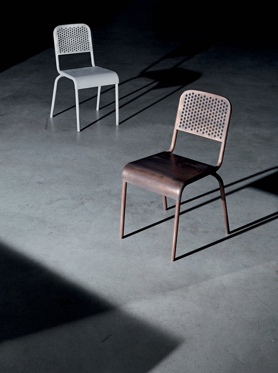 NIZZA Chair in Varnished Aluminum by Moroso for Diesel Living - DUPLEX DESIGN