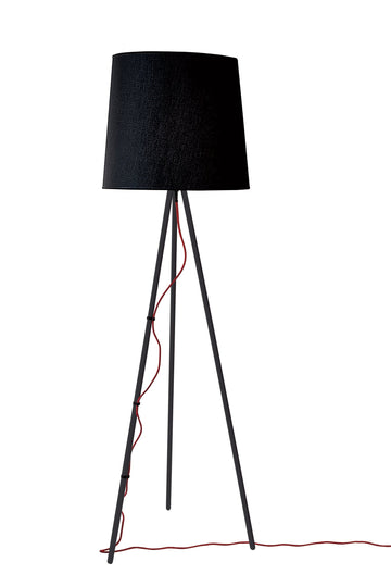 Eva Floor Lamp Black body Black Shade