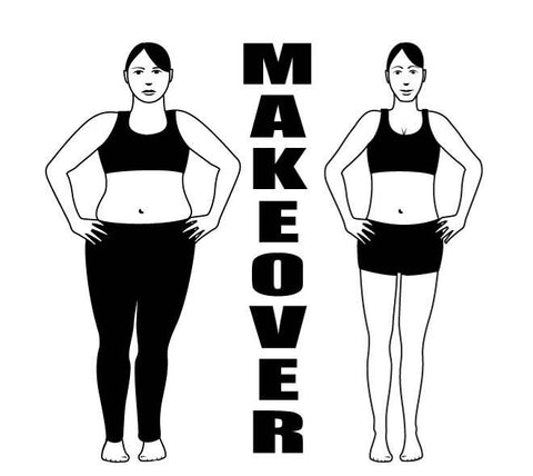 Weight loss makeover Decal