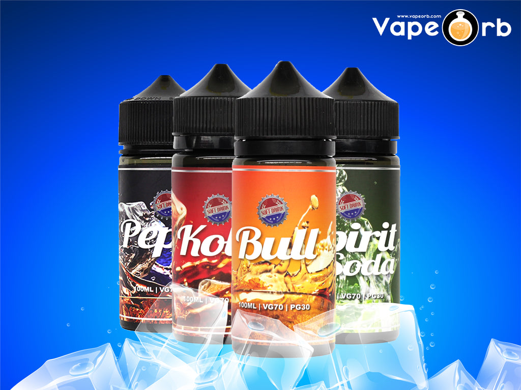 Amazing Soft Drink flavours infused E-Juice!