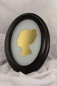 23k gold mirror gilded silhouette portarait of woman