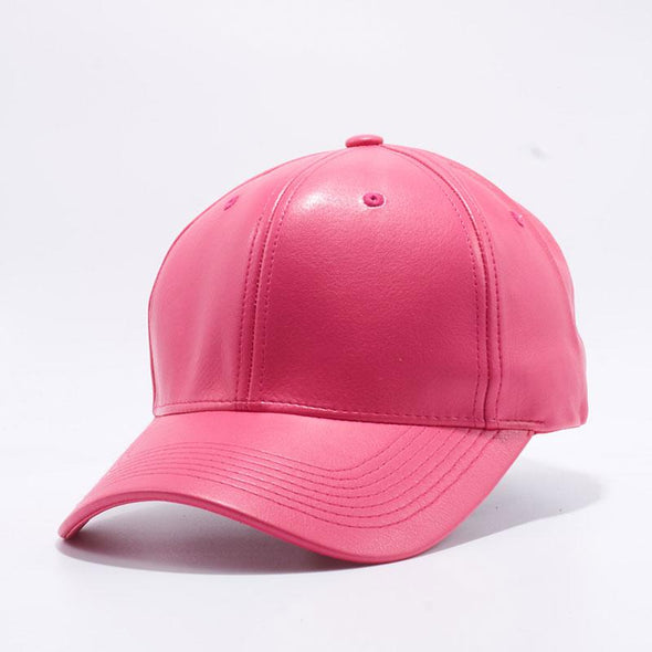 Pit Bull Hot Pink PU Leather Baseball Hat Cap Wholesale