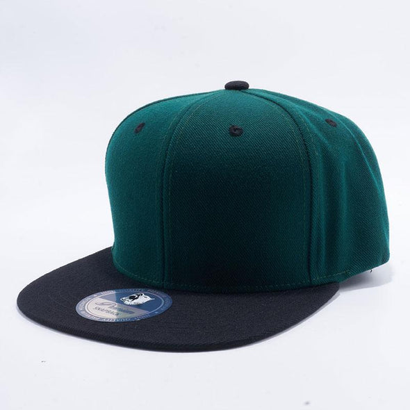 Pit Bull Acrylic Snapback Hats Wholesale [D.Green/Black]