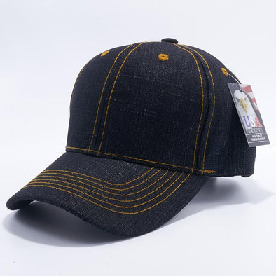 Pit Bull Blank Black Denim Baseball Hats Caps Wholesale.