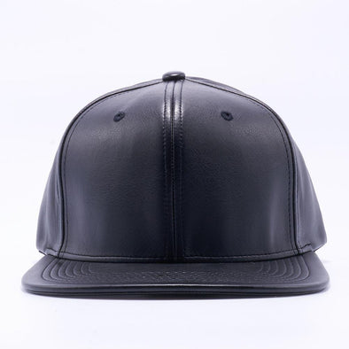 PIT BULL Black Leather Snapback Hats Wholesale