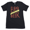 BBQ/Beer | Charcoal Black Unisex Tri-Blend