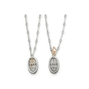 "Kathy Bransfield: Necklace-""I Love You"""