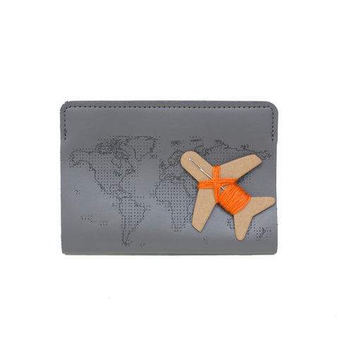 Stitch passport cover in grey