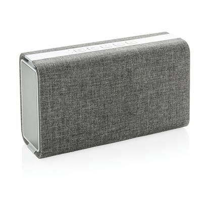 Speaker and power bank 'Vogue' by XD design in grey fabric