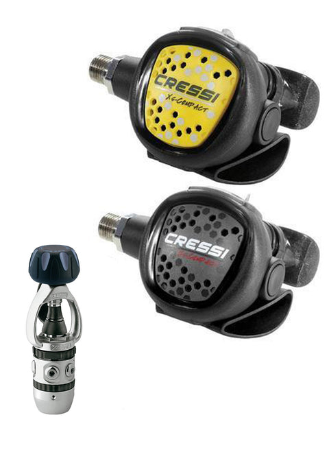 Cressi AC2 Compact Yoke Regulator + Octopus Compact