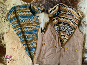 TAUPE REVERSIBLE VEST