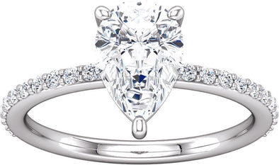 Diamond-Accented (3-prong) Ring