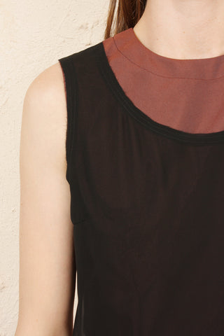 Burgundy Double Layer Dress