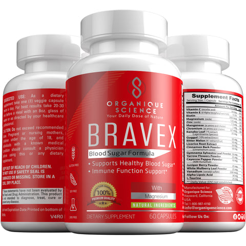 Image of BRAVEX Blood Sugar Support - Organique Science