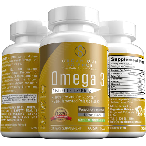 Image of Omega 3 Fish Oil - Organique Science