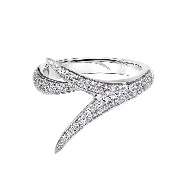 18ct White Gold And Diamond Interlock Me Promise Ring