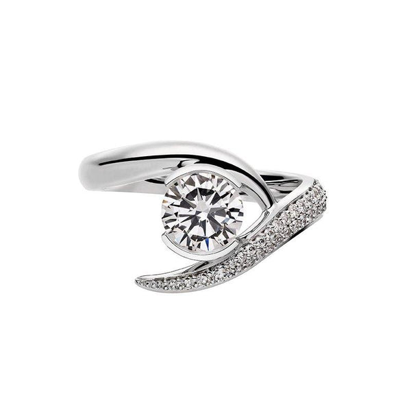 Platinum 0.75ct Diamond Inward Entwined Engagement Ring
