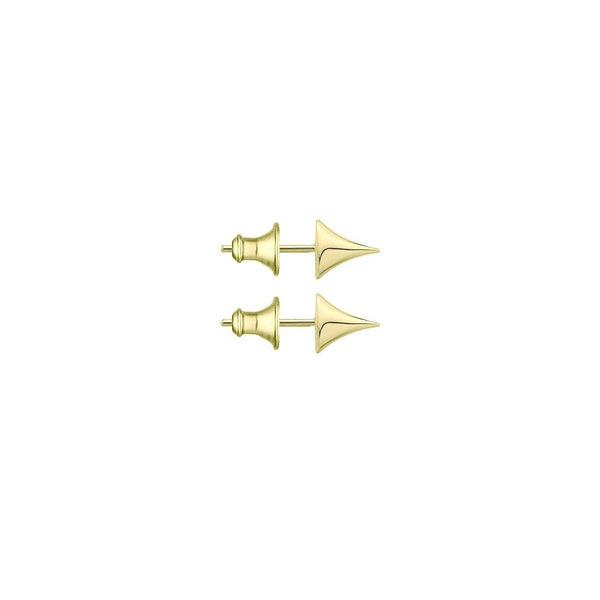 Yellow Gold Vermeil Rose Thorn Stud Earrings