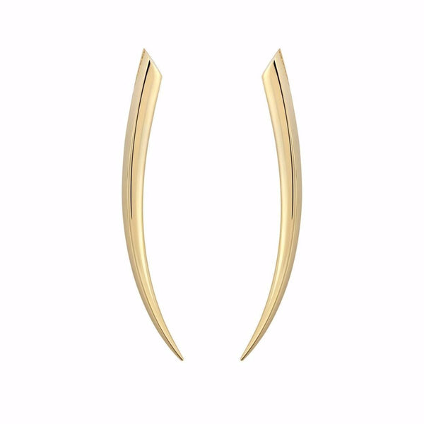 18ct Yellow Gold Medium Sabre Earrings