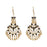 Jeweljunk White Meenakari Gold Plated Afghani Earrings