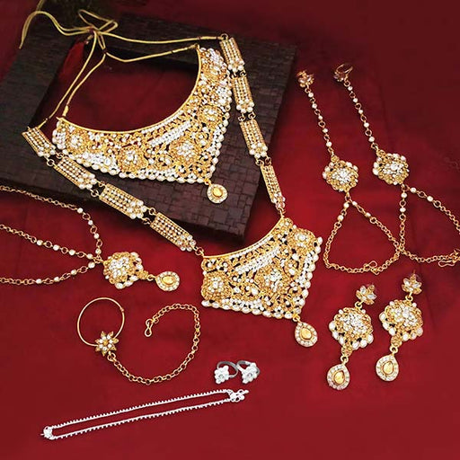 Set Of 07 Bridal Jewellery Combo