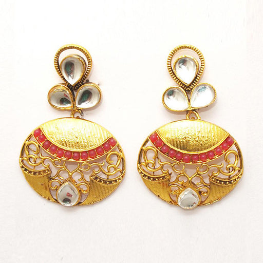 Kriaa Austrian Stone Gold Plated Dangler Earring