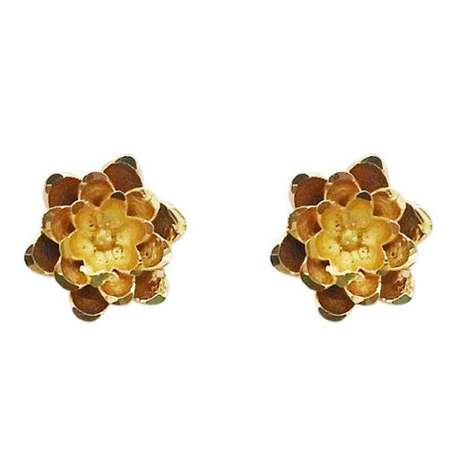 Kriaa Zinc Alloy Gold Plated Floral Stud Earring