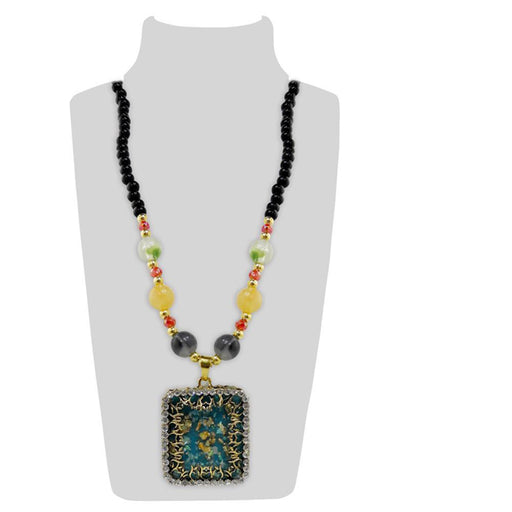 Urthn Austrian Stone And Multicolor Beads Necklace