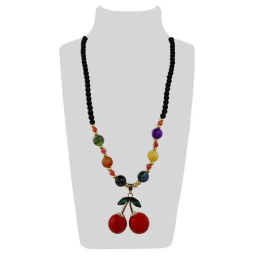 Urthn Multicolor Beads & Stone Cherry Shape Necklace