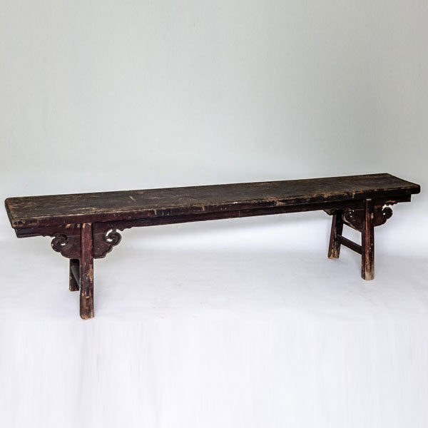 Antique Long and Low Three Person Bench YX0517055-SEATING-Wu & McHugh