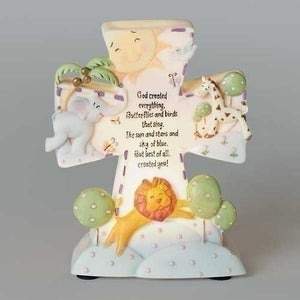GOD CREATED... CHILDRENS CROSS NIGHT LIGHT