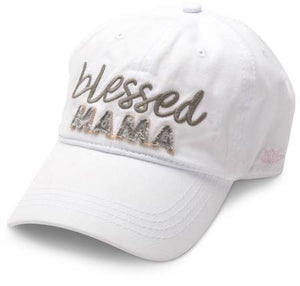 Blessed Mama - White Adjustable Hat