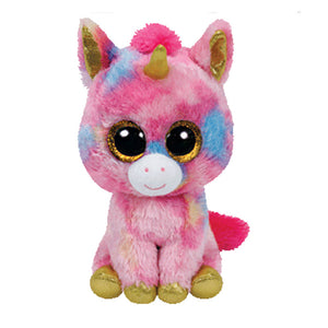Beanie Big Eyes Colorful Unicorn doll