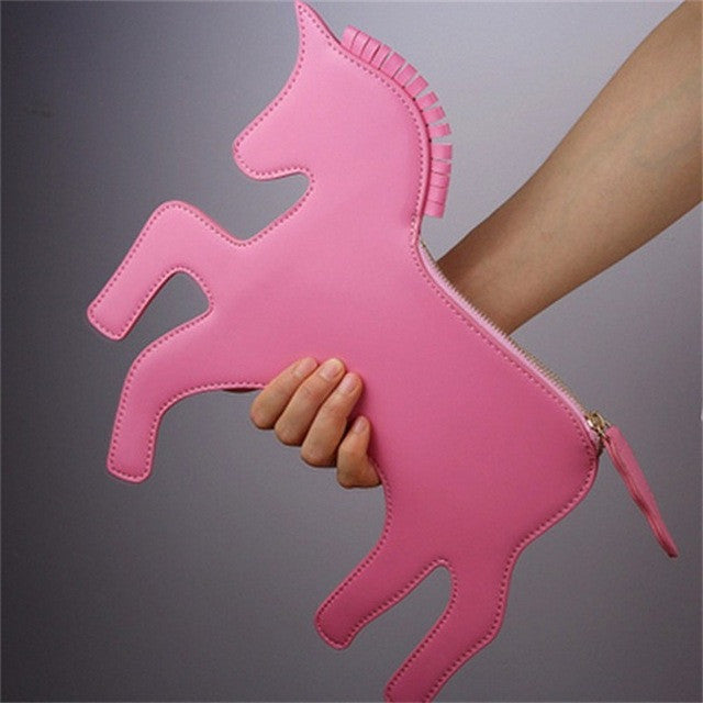 Unicorn Retro Clutch Bag