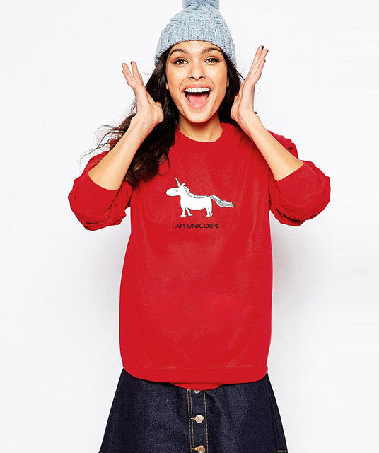 l Am Unicorn Long Sleeve Pullover