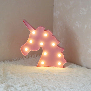 Unicorn Head Led Night Lamp