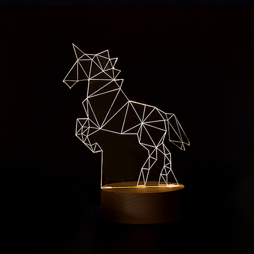 Unicorn Bedroom 3D LED Lamp