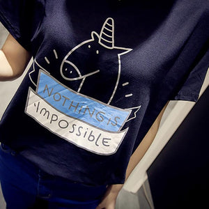 T-shirt Nothing Is Impossible Unicorn