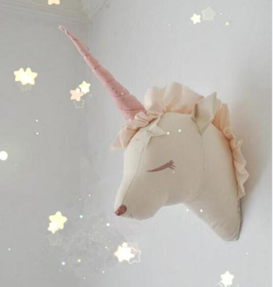 Unicorn Head Wall Mount Decor Artwork