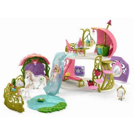 Schleich Glittering Flower House with Unicorns
